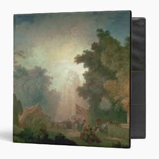 The Fete at Saint-Cloud (oil on canvas) (for detai 3 Ring Binder