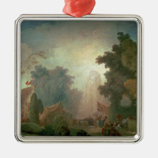 The Fete at Saint-Cloud (oil on canvas) (for detai Metal Ornament
