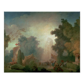 The Fete at Saint-Cloud (oil on canvas) (for detai Poster