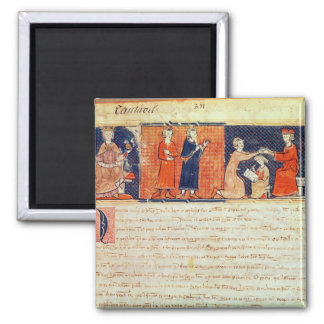 The feudal lord preaching his sermon 2 inch square magnet