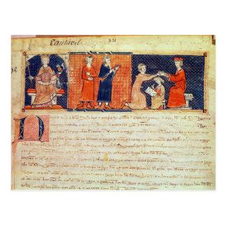 The feudal lord preaching his sermon postcard