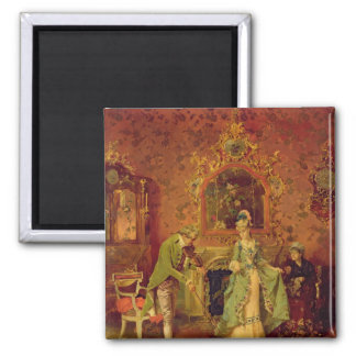 The Fiddler 2 Inch Square Magnet