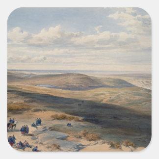 The Field de Inkerman, placa 'de Seat de la guerra Pegatina Cuadrada