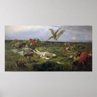 The Field de la batalla de Igor Svyatoslavich Póster