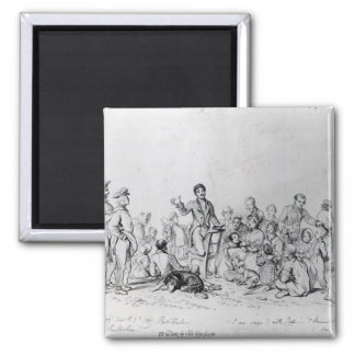 The Field Preacher, 1837 2 Inch Square Magnet