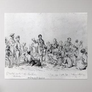 The Field Preacher, 1837 Poster