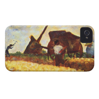 The field worker by Georges Seurat Case-Mate iPhone 4 Case
