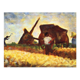 The field worker by Georges Seurat Postcard
