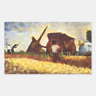 The field worker by Georges Seurat Sticker