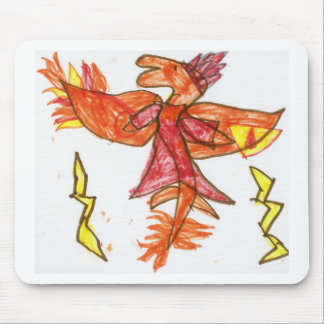 The Fiery Draggy Mouse Pad