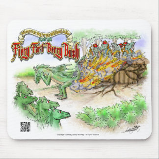 The Fiery Fart Berry Bush - computer mouse pad