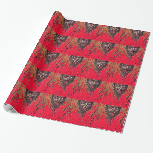 The Fiery Krampus Wrapping Paper