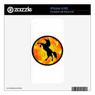 THE FIERY ONE SKINS FOR THE iPhone 4