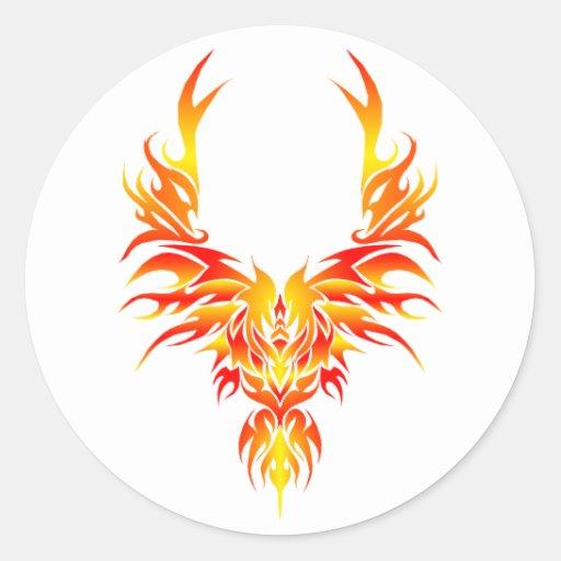 The Fiery Phoenix Classic Round Sticker