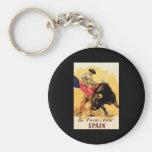 The Fiesta De Toros In Spain Basic Round Button Keychain