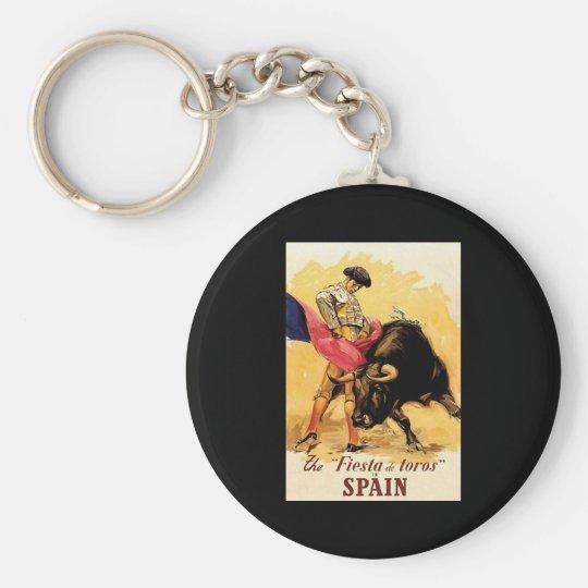 The Fiesta De Toros In Spain Keychain