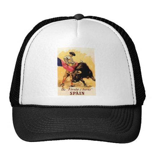 The Fiesta De Toros In Spain Mesh Hats