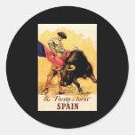 The Fiesta De Toros In Spain Stickers