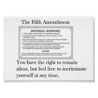The Fifth Amendment Poster