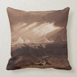 The Fifth Plaque of Egypt, engraved by Charles Tur Throw Pillow