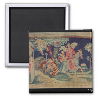 The Fifth Trumpet and the Locusts 2 Inch Square Magnet