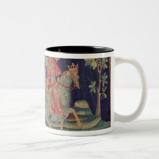 The Fifth Trumpet and the Locusts Two-Tone Coffee Mug