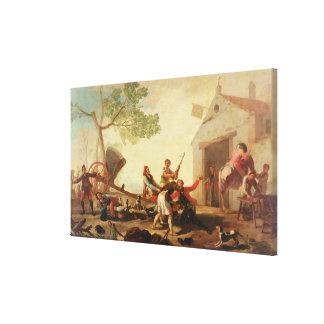 The Fight at the Venta Nueva, 1777 Canvas Print