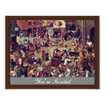 The Fight Between Carnival And Lent,  By Bruegel Personalized Invites