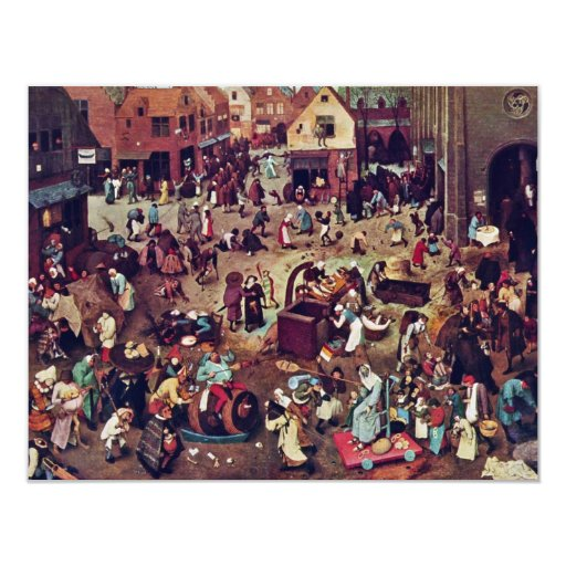 The Fight Between Carnival And Lent,  By Bruegel Invitations