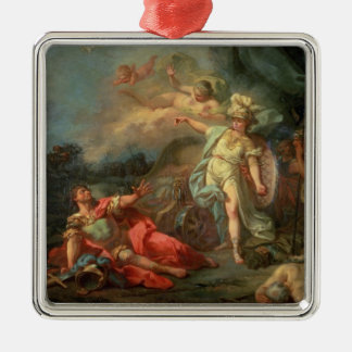 The fight between Mars and Minerva, 1771 (oil on c Metal Ornament