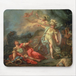 The fight between Mars and Minerva, 1771 (oil on c Mouse Pad