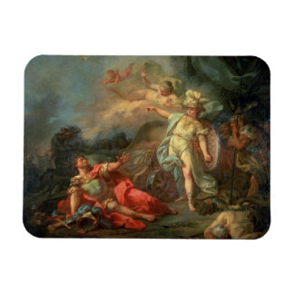 The fight between Mars and Minerva, 1771 (oil on c Rectangular Photo Magnet