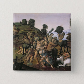 The Fight Between the Lapiths and the Centaurs Pinback Button