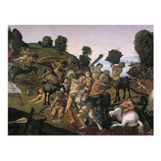 The Fight Between the Lapiths and the Centaurs Postcard