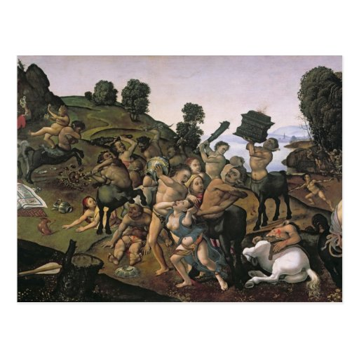 The Fight Between the Lapiths and the Centaurs Post Cards
