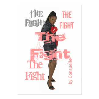 The Fight Chubby Card Large Business Cards (Pack Of 100)