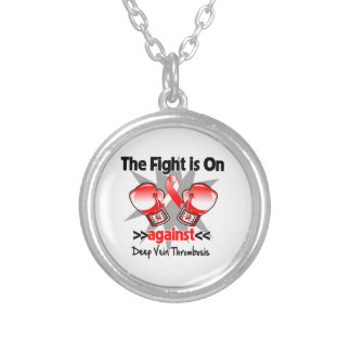 The Fight is On Against Deep Vein Thrombosis (DVT) Round Pendant Necklace