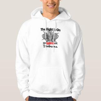 The Fight is On Against Diabetes Hooded Sweatshirt