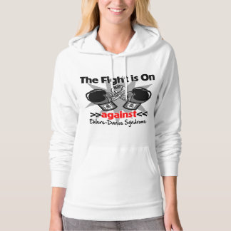 The Fight is On Against Ehlers-Danlos Syndrome Hooded Sweatshirt