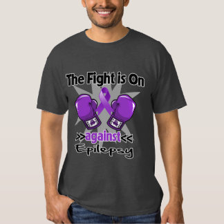 The Fight is On Against Epilepsy Tee Shirt