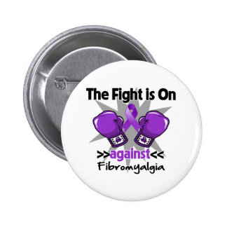 The Fight is On Against Fibromyalgia Button
