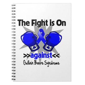 The Fight is On Against Guillain Barre Syndrome Spiral Notebook