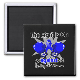 The Fight is On Against Huntington Disease 2 Inch Square Magnet