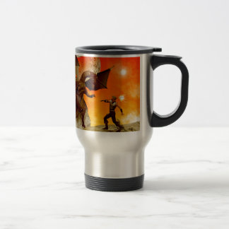 The fight 15 oz stainless steel travel mug
