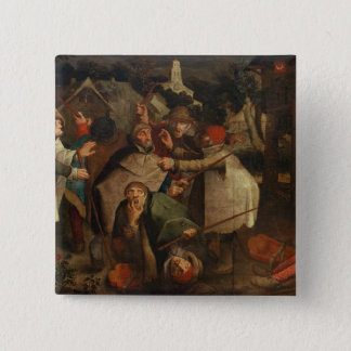 The Fight of the Blind Men, 1643 Button