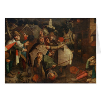 The Fight of the Blind Men, 1643 Card