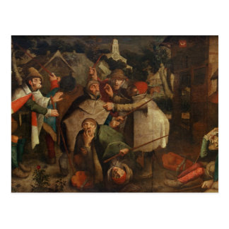 The Fight of the Blind Men, 1643 Postcard