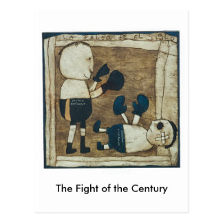 The Fight of the Century Postcard