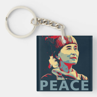 THE FIGHTER-Aung San Suu Kyi Personalized Keychain