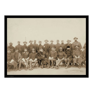 The Fighting 7th Cavalry Officers SD 1891 Print